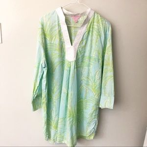 {Lilly Pulitzer} Green Palm Tunic Top